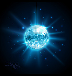Disco ball disco background vector