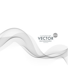 Stylish gray wave background vector