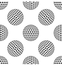 golf ball icon seamless pattern on white vector image