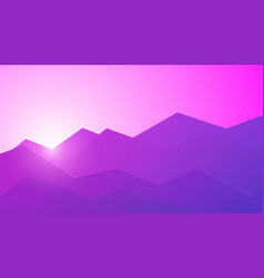 Polygonal mountains vector