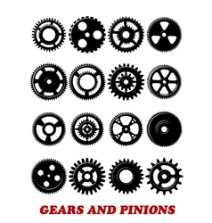 Gears and pinions set vector
