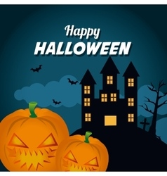 Happy halloween festival party design vector