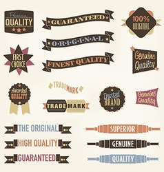 Vintage labels and banners collection vector