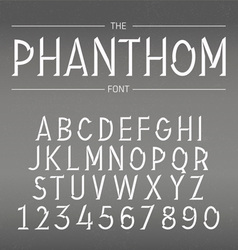 Font with shadow vector