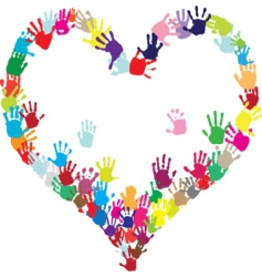 heart of hands vector image