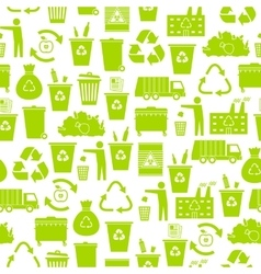 Recycling garbage seamless pattern vector image