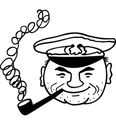 Smoking captain vector image