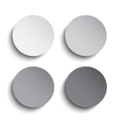 Set grey circles empty banner on white background vector