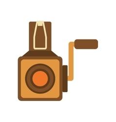 Videocamera icon retro technology design vector