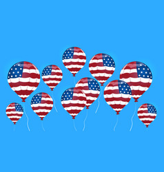 Air balloon colored in united states flag vector
