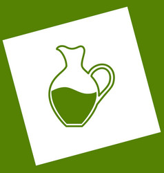 Amphora sign white icon obtained as a vector