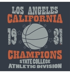 Basketball champions t-shirt vector
