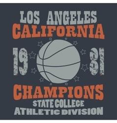 Basketball Champions t-shirt vector image