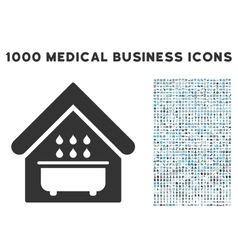 Bathroom Icon with 1000 Medical Business Symbols vector image