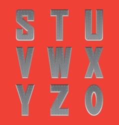 Brushed metal font series 3 s-0 vector