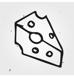 cheese hand drawn realistic vector image