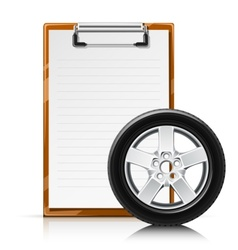 clipboard with wheel vector image vector image
