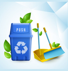eco cleaning design concept vector image vector image
