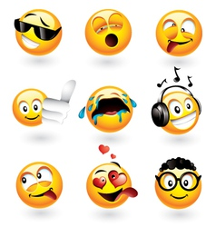 Emoticons set vector