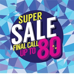 Final sale final call vector