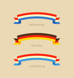 flag of netherlands germany and luxembourg vector image vector image