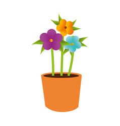 flower pot decorative icon vector image