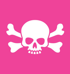 Goofy skull and crossbones vector