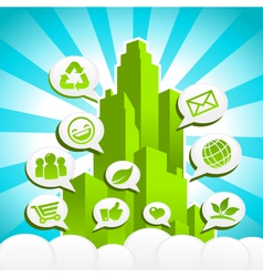 Green Eco City vector image vector image