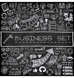Hand drawn business icons set vector image vector image