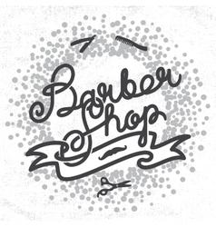Hipster Barber Shop Lettering vector image