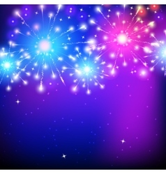 Holiday firework colorful for vector