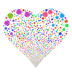 Internet fireworks heart vector