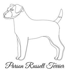 Parson russel terrier outline vector