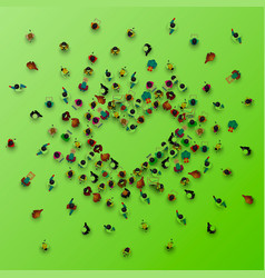 people in the heap in the form of a symbol vector image vector image