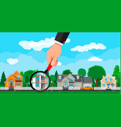 private suburban house real estate vector image vector image