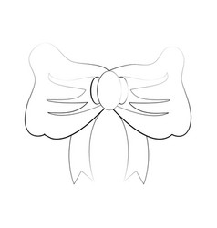 ribbon bow icon image vector image