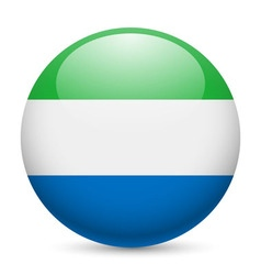Round glossy icon of sierra leone vector