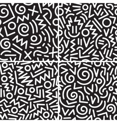 Seamless abstract backgrounds set vector