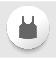 Singlet sleeveless shirt icon vector