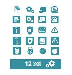 social icon set vector image vector image