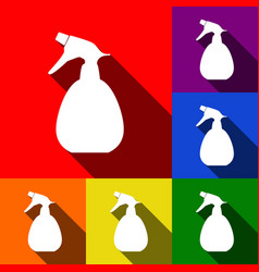 Spray bottle for cleaning sign set of vector