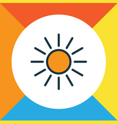 sunlight colorful outline symbol premium quality vector image