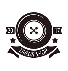Tailor shop or dressmaker atelier salon vector