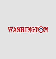 washington city name vector image vector image