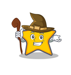 Witch star character cartoon style vector