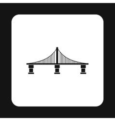 Bridge with steel supports icon simple style vector