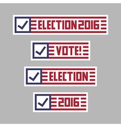US presidential election vote set vector image