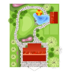 Landscape plan vector