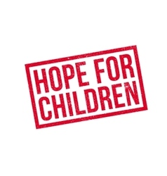 Hope For Children rubber stamp vector image