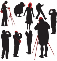 photographers shooting model vector image